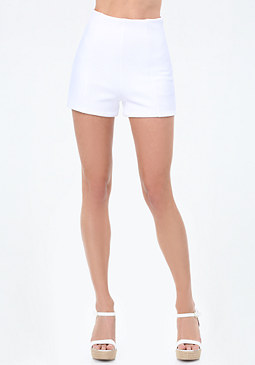 bebe Textured High Waist Shorts