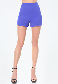 Textured High Waist Shorts