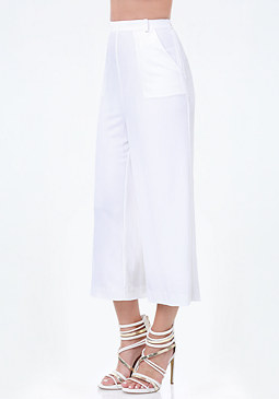 bebe Petite Wide Leg Crop Pants