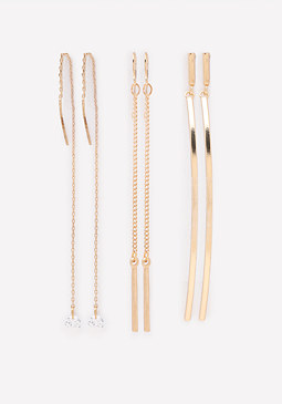 bebe Linear Earring Set