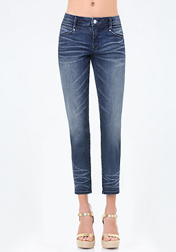 bebe Crop Girlfriend Jeans
