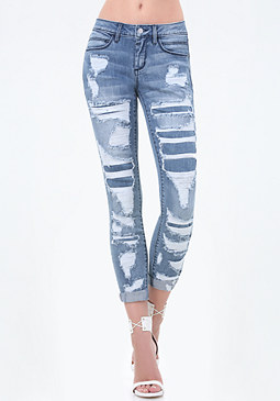 bebe Repair Heartbreaker Jeans