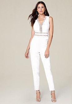 White Genevieve Jumpsuit