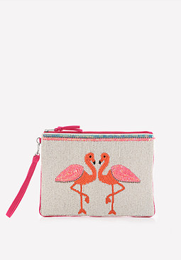 bebe Flamingo Clutch
