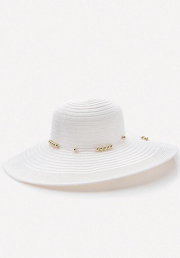 Beaded Band Floppy Hat