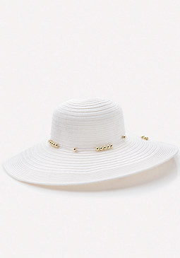 bebe Beaded Band Floppy Hat
