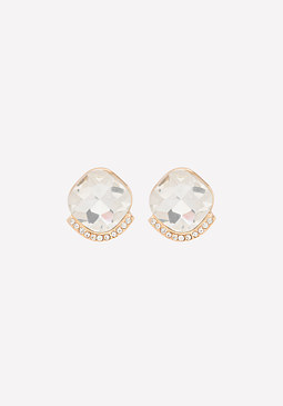 bebe Crystal Stud Earrings