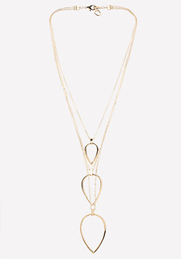 bebe Triple Teardrop Necklace