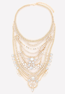 bebe Crystal Event Necklace