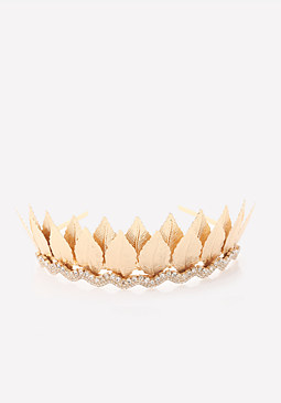 bebe Metal Leaf Crown