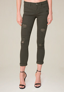 bebe Color Heartbreaker Jeans