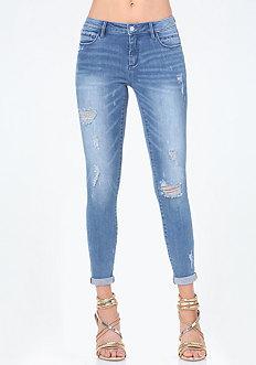 Rhinestone Logo Jeans