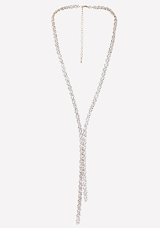 Geo Crystal Lariat Necklace