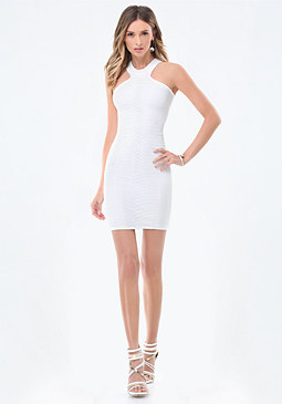 bebe Rhianon Racerneck Dress