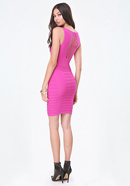 bebe Slash Sleeveless Dress
