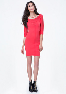 bebe Elena Slash Detail Dress
