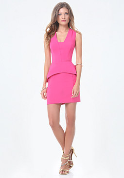bebe Carlyle Peplum Dress