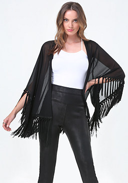 bebe Fringe Cover Up