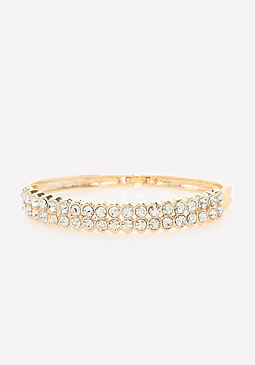 bebe Crystal Double Row Bracelet