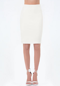Ponte Back Lace Up Skirt