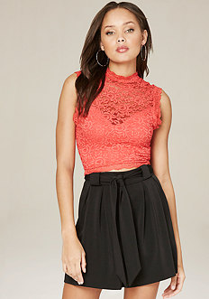 Lace Sleeveless Crop Top