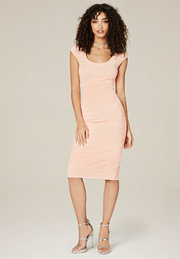 bebe Bella Textured Midi Dress