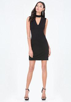 Natalie Mock Neck Dress