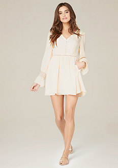 Flare Cuff Button Dress