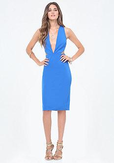 Cutout Plunge Dress