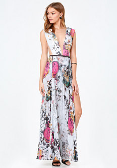 Print Double Slit Gown