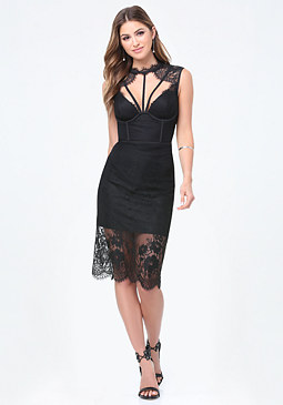 bebe Evie Lace Dress