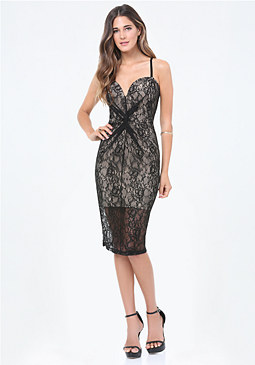 bebe Sheila Lace Dress