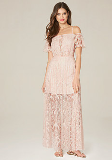 Lyla Pleated Lace Gown