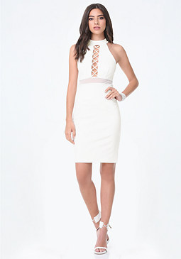 bebe Crisscross Cutout Dress