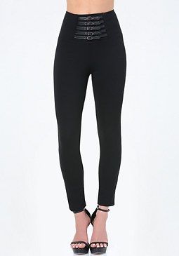 bebe Mini Belted Leggings