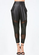 bebe Atlas Slouchy Moto Leggings