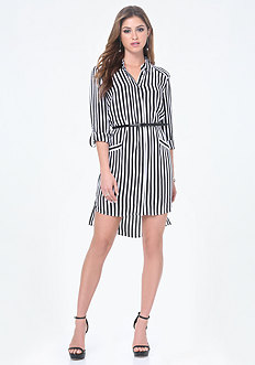 Ashley Striped Shirtdress