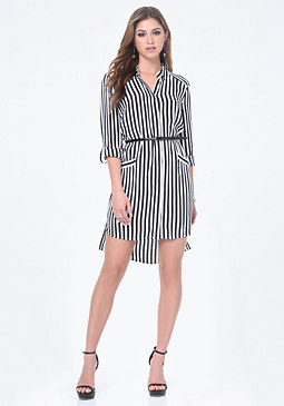 bebe Ashley Striped Shirtdress