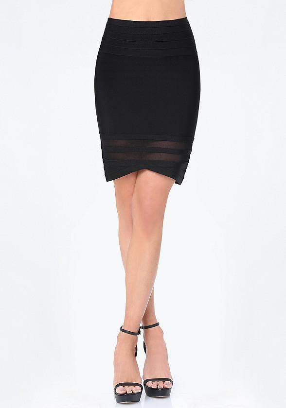 Monet Mesh Inset Skirt