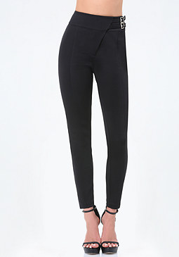 bebe 2-Buckle Crossover Pants