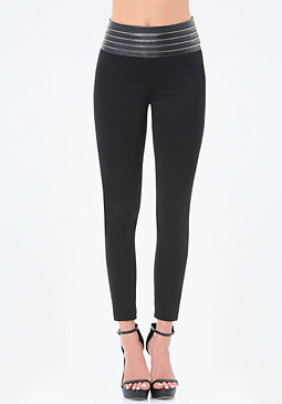 bebe Zip High Waist Leggings