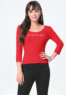 Logo Ribbed Top