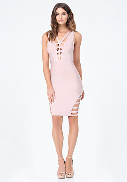 bebe Sofie Cage Detail Dress