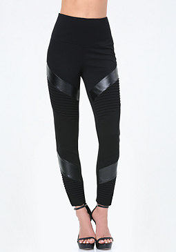 bebe High Rise Moto Leggings