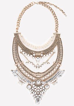 bebe Opulent Statement Necklace