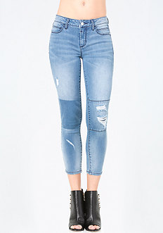 Patched Crop Jeans