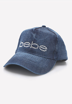 bebe Logo Denim Cap