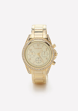 bebe Open Cuff Watch