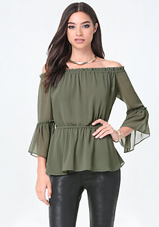 Off Shoulder Peplum Top