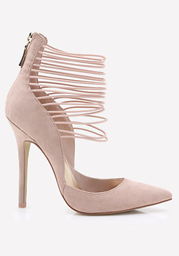 bebe Alyson Ankle Strap Pumps
